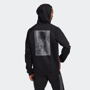 Adidas Geoff Gouveia Black Hooded Sweatshirt